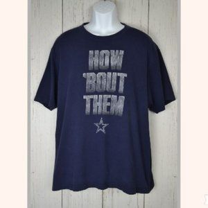 Dallas Cowboys Blue Graphic Tee -How Bout Them
